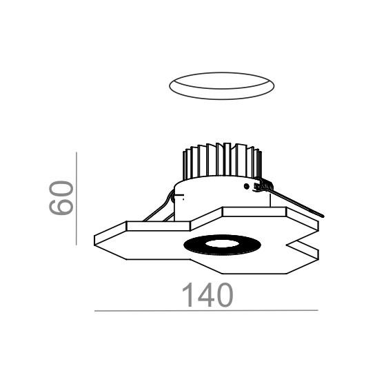 SATELLITE LED 230V wpuszczany